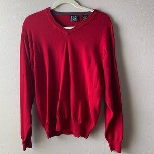 JoS. A. Bank • 100% Merino wool red sweater